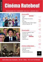 Programme cinéma décembre 2013 Rutebeuf Clichy