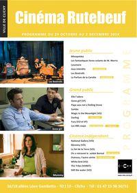 Programme novembre 2014 cinéma Rutebeuf Clichy