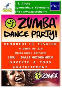 ZUMBA PARTY LE 13 FEVRIER