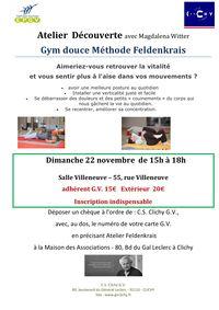 Atelier Feldenkrais 22 novembre