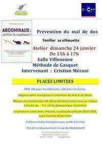 Prévention  du  mal  de  dos 24 janvier